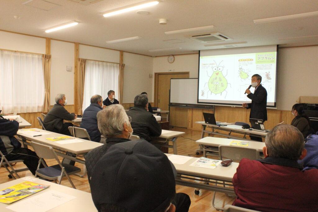 地域の防除対策を紹介する一般社団法人農山漁村文化協会の橋本氏